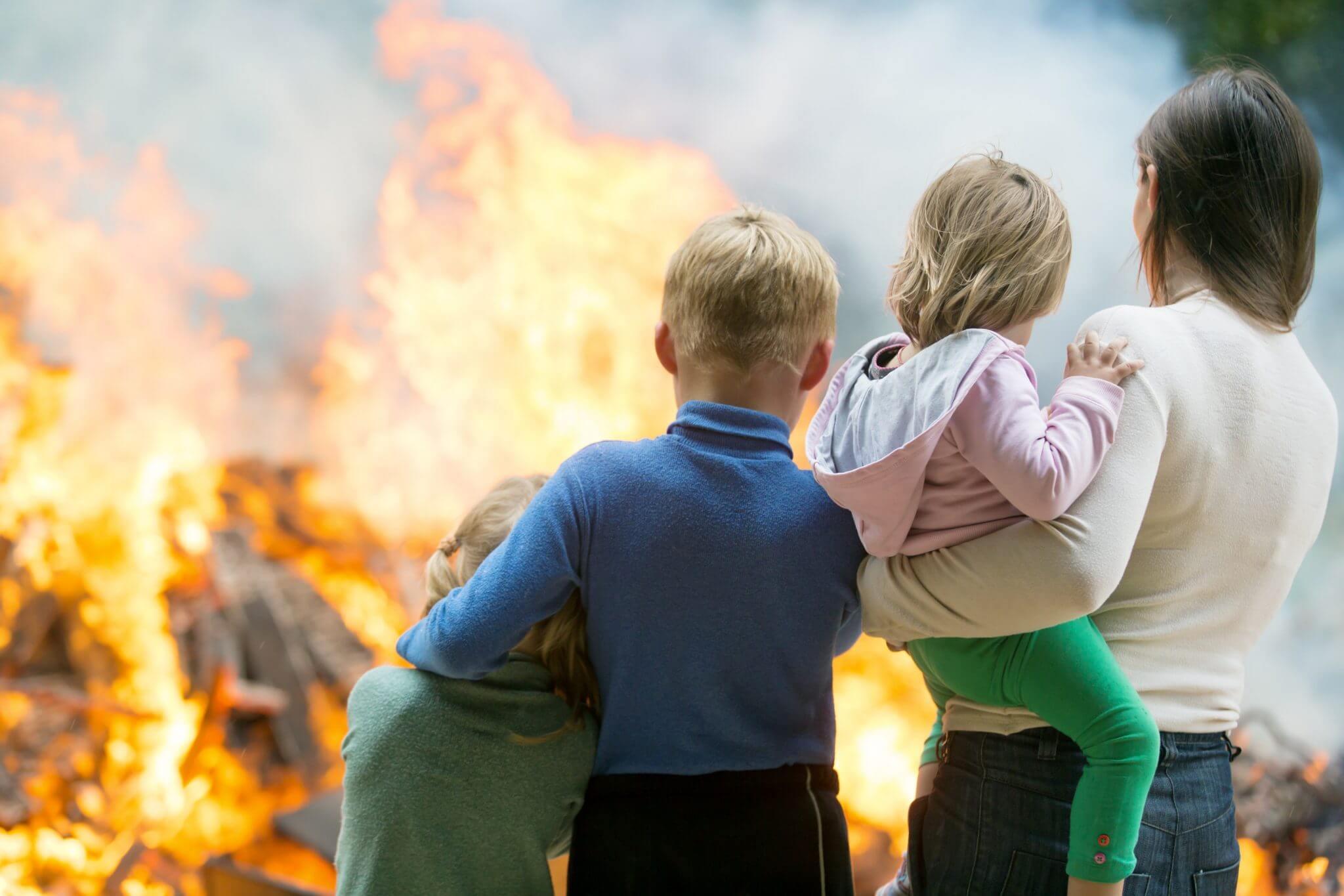 A Family beside A Fire