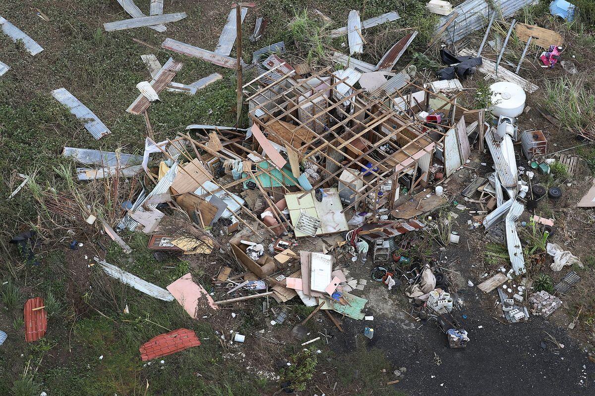 House broken by Hurricane Maria 1