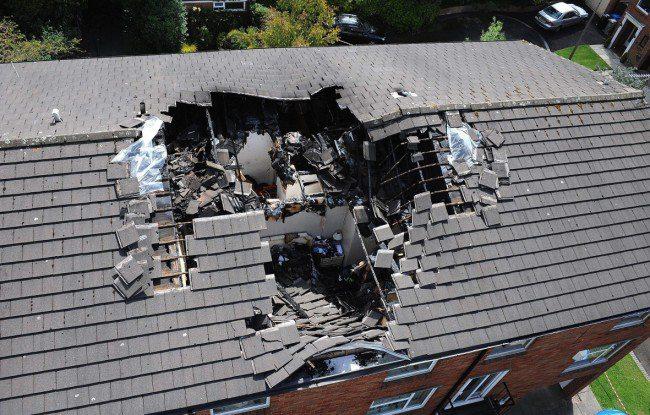 Lightning Damaged House Roof