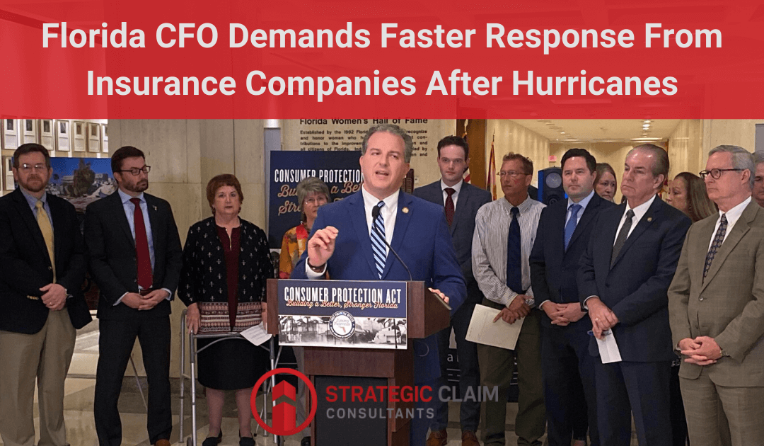 Florida CFO Demands Faster Response From Insurance Companies After Hurricanes