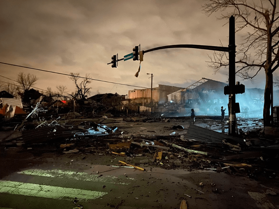 Nashville tornado destruction