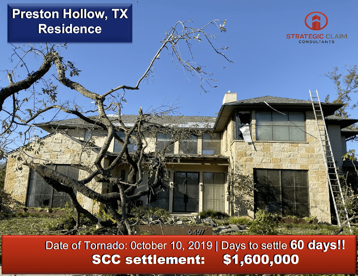 Preston Hollow Residence | SCC Claim Settlement - how effective are public adjusters