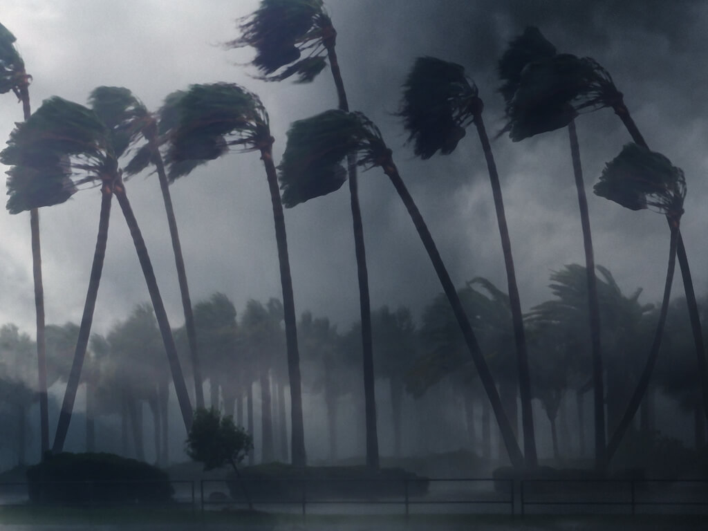 House broken by Hurricane Maria 2